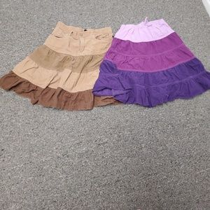 Bundle Of Two Girls Size 10 Skirts